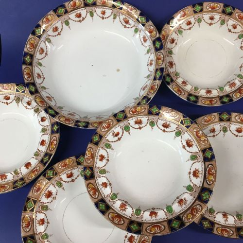 Doric China Imari  Fruit Dessert Set  | 1920s | 1930s